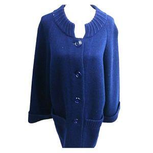 VTG 100% Wool Navy Blue knitwear